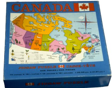 Jigsaw Puzzle Map Puzzles - Canada map puzzles