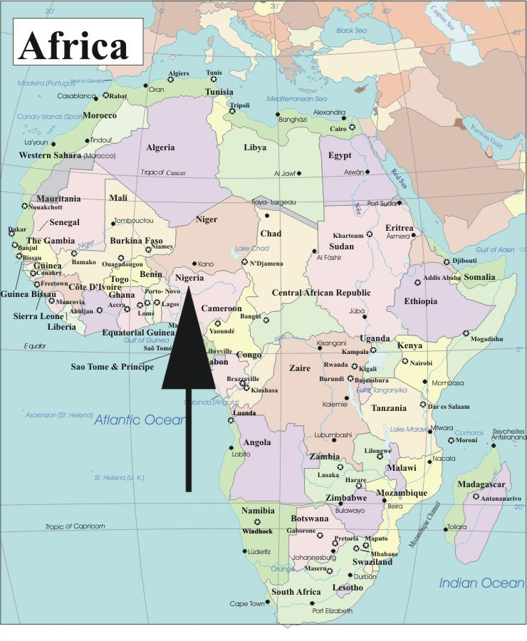 Map Of Africa 1955 Adi: A Nigerian Game